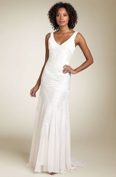 Item #51 Sue Wong Beaded Gown with Deep V-Back