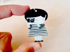 Say cheese girl pendant by yaelfran on Etsy, $8.00