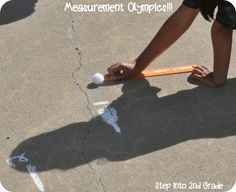 Step into 2nd Grade with Mrs. Lemons: Poetry, Measurement Olympics, and the Zoo  Measurement craftivity and Olympic outside activity