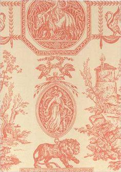 Empire Wallpaper Coral and beige Empire wallpaper