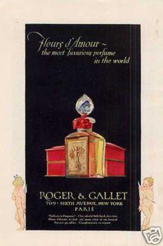 Publicité Vintage -  Parfum Roger & Gallet - Années 1920