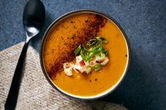 Smoky Sweet Potato and Apple Soup
