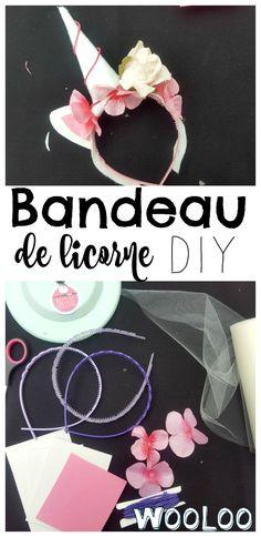 Voici comment faire votre bandeau de licorne DIY #licorne #unicorn #DIY #bricolage Unicorn Diy, National Holidays, Crochet, Voici, Costumes, Birthday, Creative, Kids, Crafts