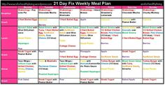 21 Day Fix Meal Plans - http://www.beachreadynow.com/recipes/21-day-fix-meal-plans/