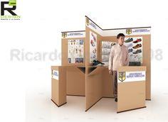 stand portatil de carton - Buscar con Google Cardboard Design, Diy Cardboard, Paper Design, School Exhibition, Exhibition Display, Sock Display, Waiting Room Design, Business Storage, Mobile Office