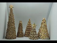 Choinka świąteczna z płatków kosmetycznych#Christmas tree with cosmetic flakes - YouTube