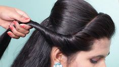 Easy Hairstyles For Girls Step By Step For Work - latest hairstyles for party/wedding ★ easy hairstyle for beginners step step ★ hair style girl Saree Hairstyles, Side Braid Hairstyles, Step By Step Hairstyles, Latest Hairstyles, Girl Hairstyles, Easy Party Hairstyles, Hairstyles 2018, Hairstyle Ideas, Wedding Hairstyles For Girls