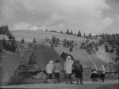 Czechoslovakia- Carpatho-Ruthenia Peasants And Huts In Village Of Izky Near Polish BorderDate taken:April 4, 1938Photographer:Margaret Bourke-White