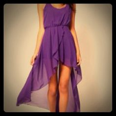 Purple hi lo dress, asos.com also in light teal Purple hi lo dress, asos.com also in light teal size Large but more like a medium. Never worn. $25 each or 2 for $45 ASOS Dresses High Low