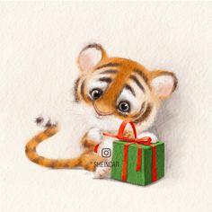 """Nadya Shinkar☀️ILLUSTRATOR on Instagram: """"Tiger ❤️ Кто ещё не в курсе, то грядущий год, будет годом тигра . ❤️ Я когда-то тоже не особо следила за всеми этими праздниками. Год кого…"""""""