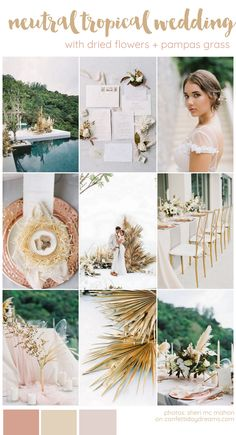 Wedding Color Schemes, Themes & Inspiration Boards Neutral Dried Flowers and Pampas Grass Wedding co Beach Wedding Colors, Purple Wedding, Dream Wedding, Wedding Flowers, Wedding Tips, Elegant Wedding, Wedding Details, Wedding Dress, Hawaiian Wedding Themes