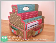 Desk Caddy - Victoria Rogers, My latest 3-d project available as a tutorial on my blog - right side bar http://bluejellystampin.blogspot.co.uk/