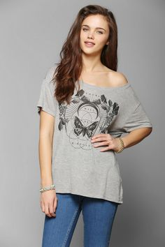Truly Madly Deeply Floral Butterfly Tee|| I want this shirt so bad!!!!