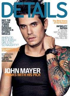 Photos of John Mayer on the Cover of Details Magazine 2009-11-24 ...