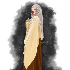Hijabi Girl, Girl Hijab, Hijab Drawing, Modele Hijab, Anime Muslim, Hijab Cartoon, Islamic Paintings, Islamic Girl, Islamic Art Calligraphy