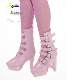 "16"" Tonner Tyler/Ellowyne Shoes 5-Strap Boots Pt Pink"