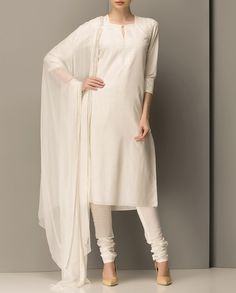 Ivory Sequined Kurta Set