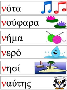 Greek Phrases, Learn Greek, Greek Alphabet, Greek Language, Ancient Greek, Primary School, Special Education, Worksheets, Learning
