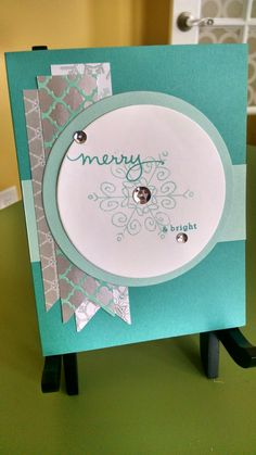 Stampin' Up! Endless Wishes set used on a Christmas card