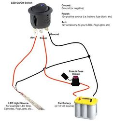 off road light wiring diagram automotive electronics rh pinterest com PC Power Switch LED Wiring Simple LED Circuit with Switch