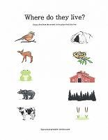 Match Animals To Their Homes And More Free Worksheets For Preschoolers