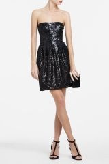 sparkly dress!   BCBGcarol strapless sequined cocktail dress
