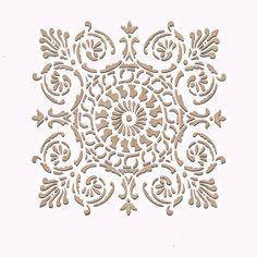 Wall Stencil | Small Palermo Tile Stencil | Royal Design Studio