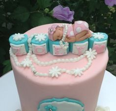 TIFFANY BABY SHOWER Fondant Cake topper First Birthday  christening pink dress polka dot bikini decorations favors