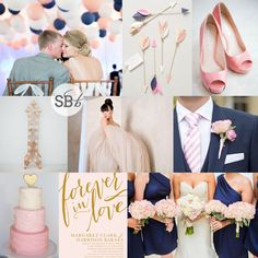 Navy & Pink Wedding Inspiration Board | SouthBound Bride www.southboundbride.com/inspiration-board-rings-arrows Full credits on blog post