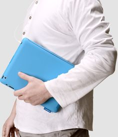 Sky Blue~! Coooool~!  [ podopod ] Keyboard Case for iPad