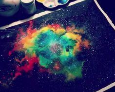 beautiful galaxy watercolor by Ana Victoria Calderon https://www.youtube.com/user/anavictoriacalderon