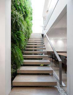 Casa K / Studio Arthur Casas #stairs #green