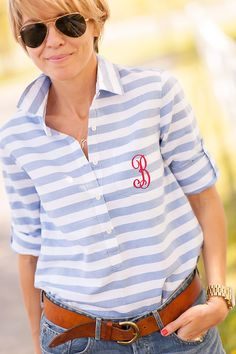 monogram my new favorite jcrew shirt