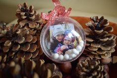 Süti és más...: Karácsonyfagömb fotóval DIY