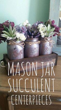 Mason Jar Centerpiec