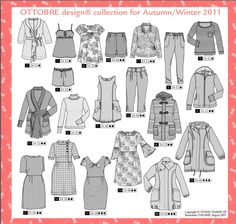 Sewing patterns, fabrics and more… Clothing Patterns, Sewing Patterns, Wardrobe Makeover, Pattern Drafting, Couture, Doll Clothes, Sewing Projects, Parka, Clip Art