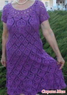 Платье «Перышко» - ВЯЗАНАЯ МОДА+ ДЛЯ НЕМОДЕЛЬНЫХ ДАМ - Страна Мам
