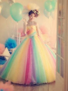 rainbow dress, not something I'd wear probably, for the kind of bash we are planning, but looks like fun for something, someday