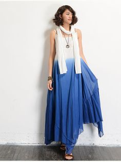 Loose Fitting Long Linen Maxi Dress Summer by LovingbeautyFur
