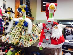 Santa  and friends #Santa #santaclaus #red #featherboas #quirky #silly #happiness #happy #silver #bows #gettagoose #gooseclothes #geese #giggles #winter #handmade #homemade #gorgeous #original