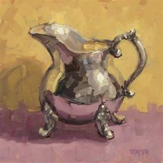 "Daily Paintworks - ""Little Silver Creamer"" - Original Fine Art for Sale - © Stuart Roper"