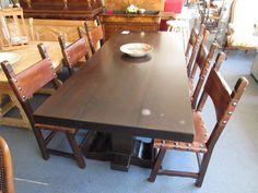 Tisch eichen massiv mit 6 stühle bei HIOB Muttenz  #Schnäppchen #Trouvaille