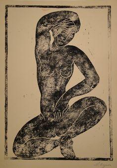 Moise Kogan (Russian, 1879 – 1942/43) Crouching Nude, 1926 Galerie Gerhard Zähringer, Zürich, Swithzerland