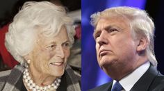 """Barbara Bush on Donald Trump:  """"I Don't Know How ANY Woman Can Vote For Him!"""" - http://viralfeels.com/barbara-bush-on-donald-trump-i-dont-know-how-any-woman-can-vote-for-him/"""