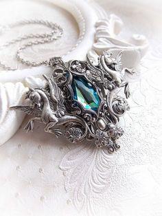 Mythological necklace  Swarovski necklace  by MidnightVision