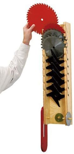 protect-and-serve blade rack, Saw Blade Rack Plans http://woodworkingforprofit.info/woodworking-power-tools.htm
