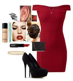 Poppy by amour-vicieux on Polyvore featuring polyvore fashion style Casadei Whistles Kate Spade Links of London Bare Escentuals Lord & Berry L'Oréal Paris Noir Cosmetics clothing
