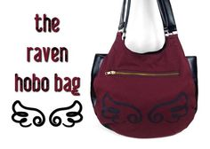Free tutorial: A cute hobo bag with exposed zipper detail and strap hardware ♥ #sewing #diy