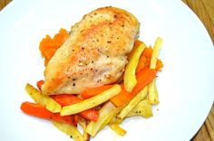 Stuffed Chicken with Honey-Glazed Carrot and Parsnip