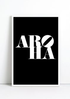 """A play on Robert Indiana's pop art sculpture. """"Aroha"""" meaning LOVE in Maori (New Zealand native language) and also Kiwi slang. Also """"Arohanui"""" meaning """"big/much love"""". (Not Japanese for """"aloha"""" ;)"""